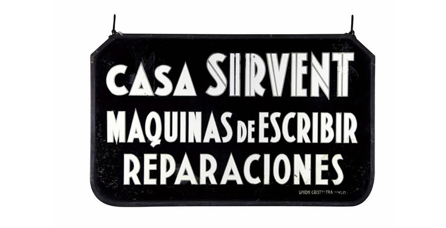 Letrero antiguo de Casa SIRVENT